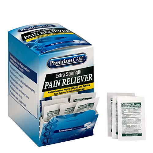 Strength Pain Reliever, 50x2/box | Extra Strength Pain Reliever, 50 Packets of Two Pills Per Box