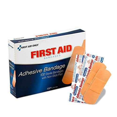 "1""x3"" Plastic Bandages, Non Stick Pad, 100/box - Emergency Kit Trauma Kit First Aid Cabinet Refill"