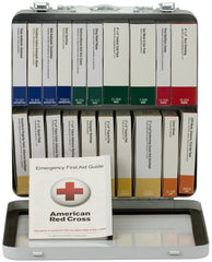 50 Person 24 Unit First Aid Kit, Metal, Weatherproof, ANSI A+, Type III - BS-FAK-90600-1-FM