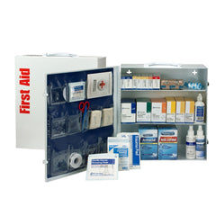 3 Shelf First Aid ANSI A+ Metal Cabinet, with Meds - BS-FAK-90574-1-FM