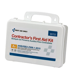 25 Person Contractor ANSI A+ First Aid Kit, Plastic Case, Type III - BS-FAK-90753-1-FM