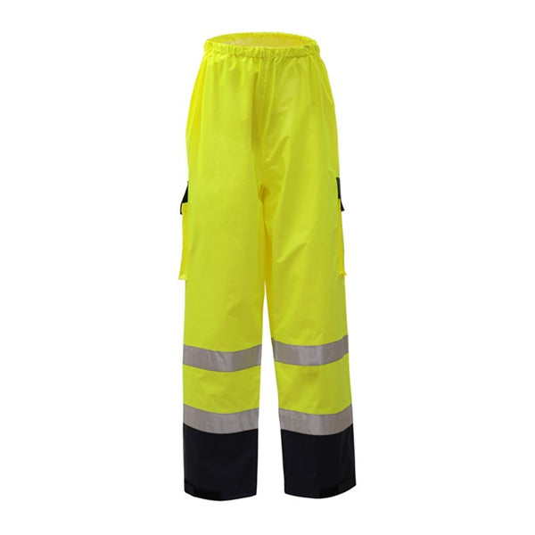Class E Premium Waterproof Hi Vis Pants with Black Bottom