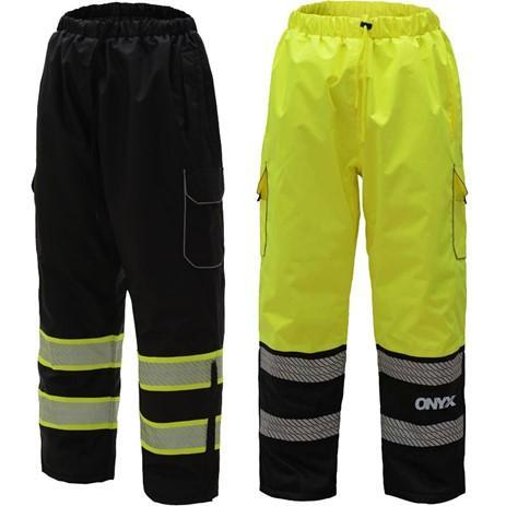 ONYX Class E Rip stop Poly Filled Insulated Hi Vis Winter Pants w/Segment Tape