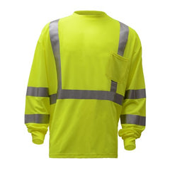 Safety T-Shirt | Hi Vis Safety T Shirts | Moisture Wicking T-Shirt | Polyester Mesh with Chest Pocket | ANSI Class 3 Compliant | Men or Women