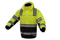 ONYX 3-IN-1 Performance Winter Parka Jacket with Reflective Tape | Removable Safety Hi Vis Hoodie | High Visibility Jackets for Men or Women