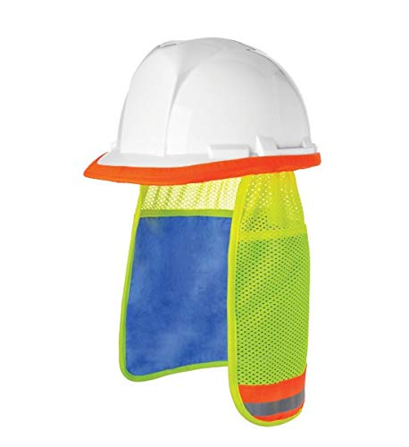 Brite Safety Evaporative PVA Cooling Hard Hat Neck Shade - Reusable Adaptable on All Helmets Hard Hats (Pack of 2)