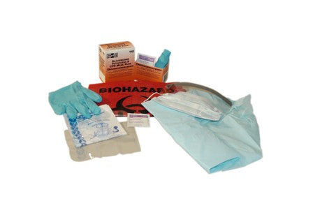 8 Piece Blood Borne Pathogen (BBP) Apparel Pack With CPR Mask - BS-FAK-21-755-1-FM