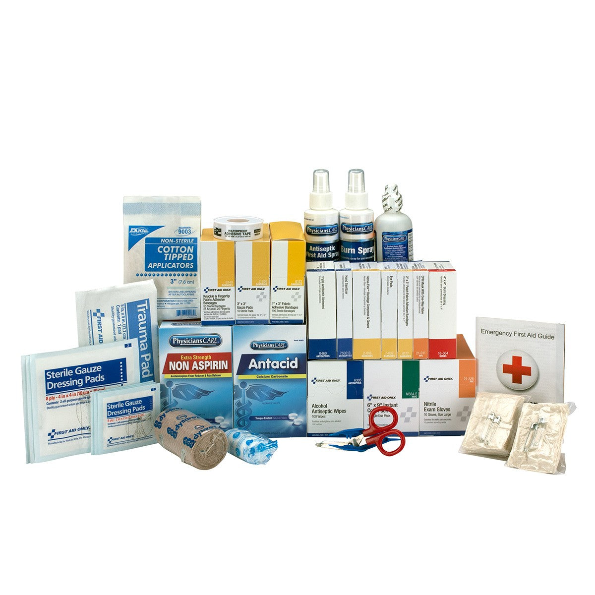 3 Shelf ANSI A+, Refill, with Meds - BS-FAK-90620-1-FM