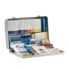 50 Person Contractor ANSI B+ First Aid Kit, Metal Case, Type III - BS-FAK-90671-1-FM