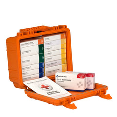 25 Person 16 Unit First Aid Kit, Waterproof Case, ANSI A, Type IV - BS-FAK-90029-1-FM