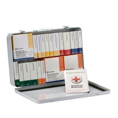75 Person 36 Unit First Aid Kit, ANSI A+ Compliant With BBP (Blood Borne Pathogen) Pack, Weatherproof Steel Case, Type III - BS-FAK-90700-1-FM