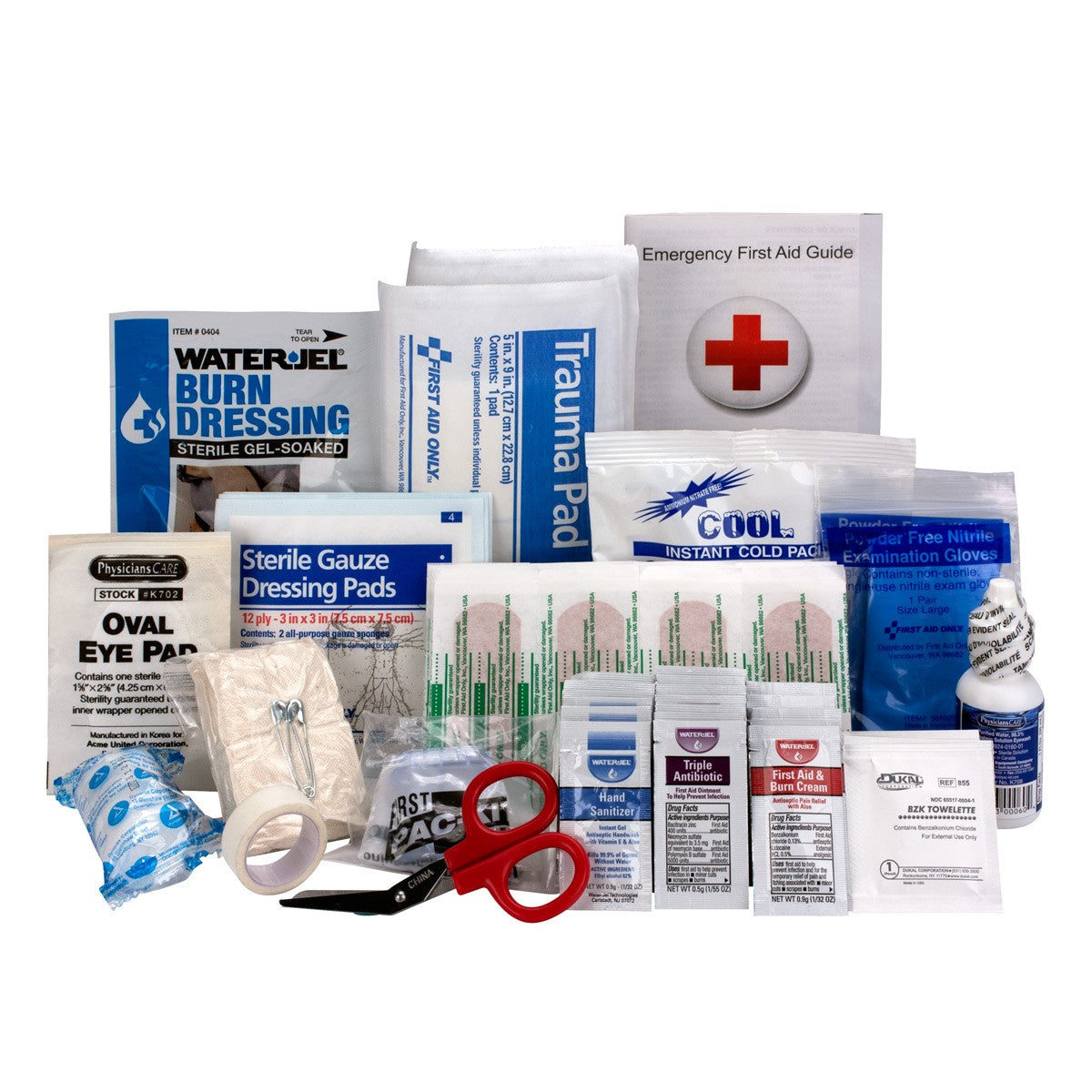 25 Person Bulk ANSI A, First Aid Kit Refill - BS-FAK-90583-1-FM