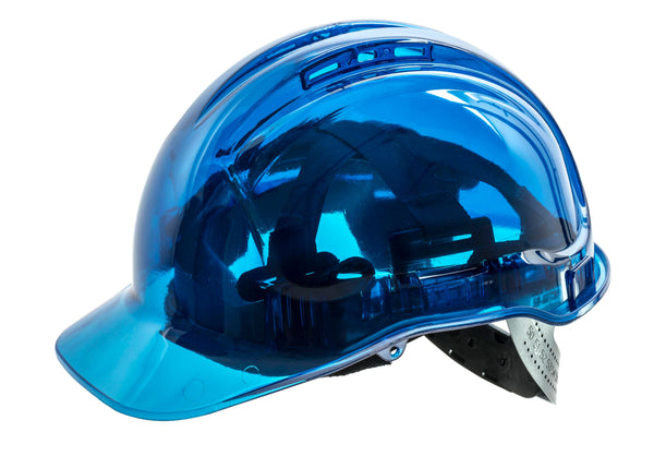 Brite Safety Peak View Vented Hard Hat - ANSI Z891.1 Compliant Safety Helmet Lightweight Polycarbonate Shell Hard Hats 6 Point Textile Harness