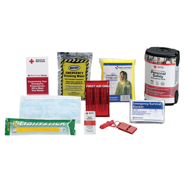 American Red Cross Personal Safety Emergency Pack By First Aid Only - BS-FAK-RC-612-1-FM