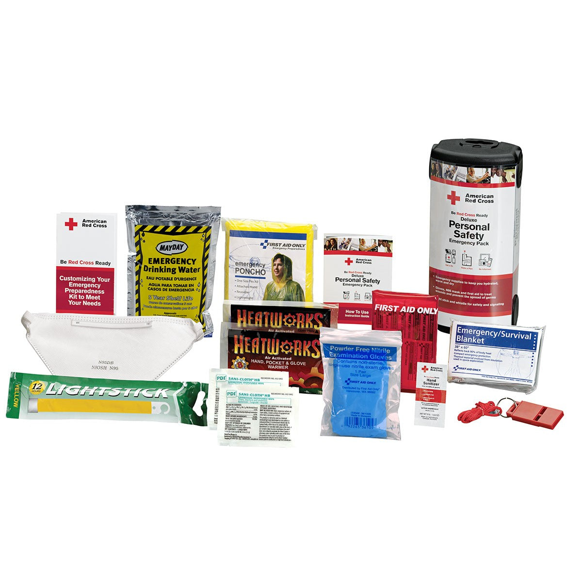 American Red Cross Deluxe Personal Safety Emergency Pack By First Aid Only - BS-FAK-RC-613-1-FM