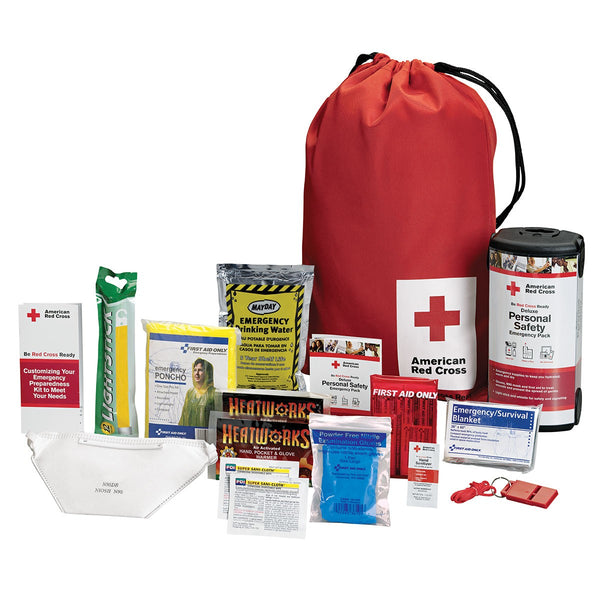 American Red Cross Deluxe Personal Safety Emergency Pack - BS-FAK-RC-622-1-FM
