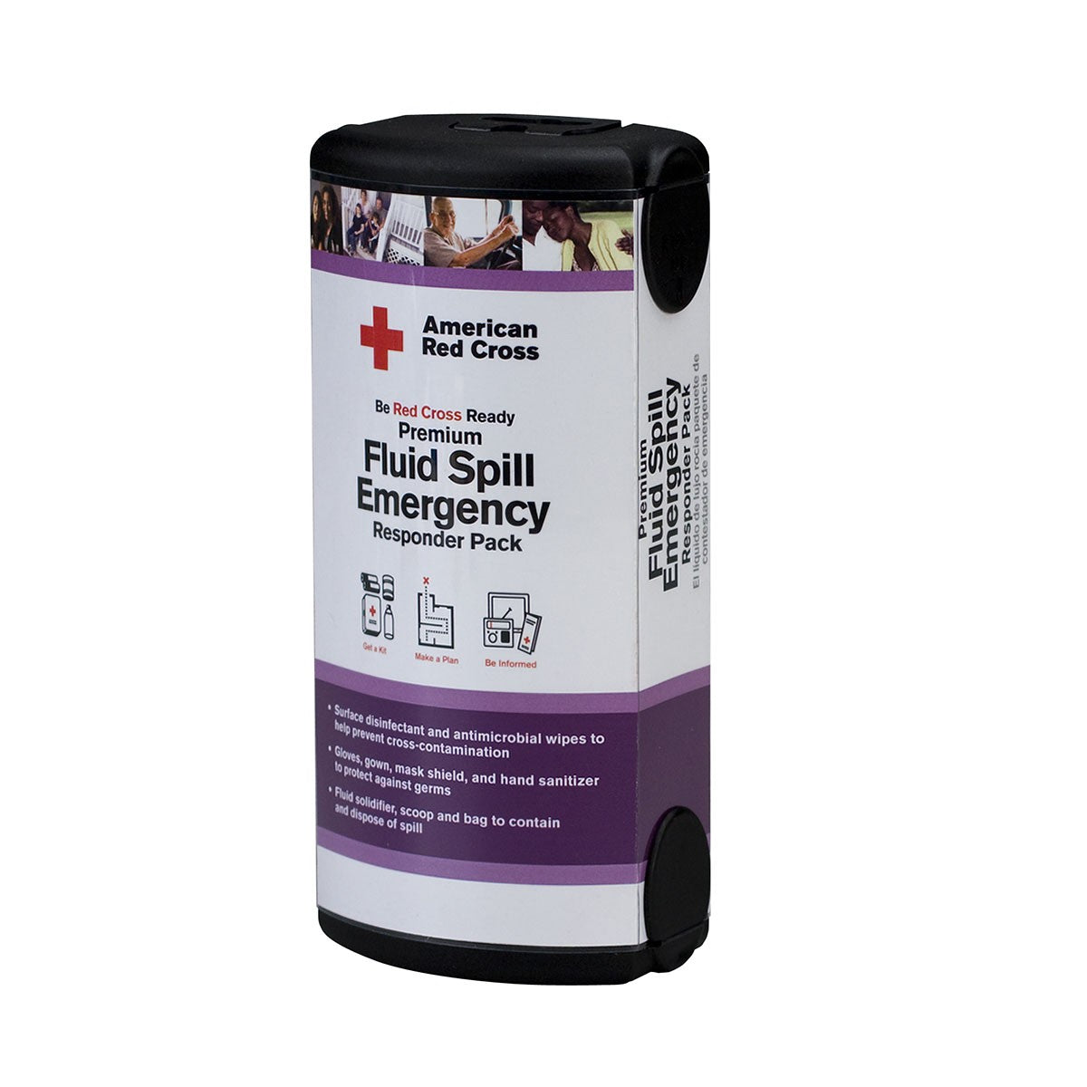 American Red Cross 13 Piece Fluid Spill Emergency Responder Pack - BS-FAK-RC-657-1-FM