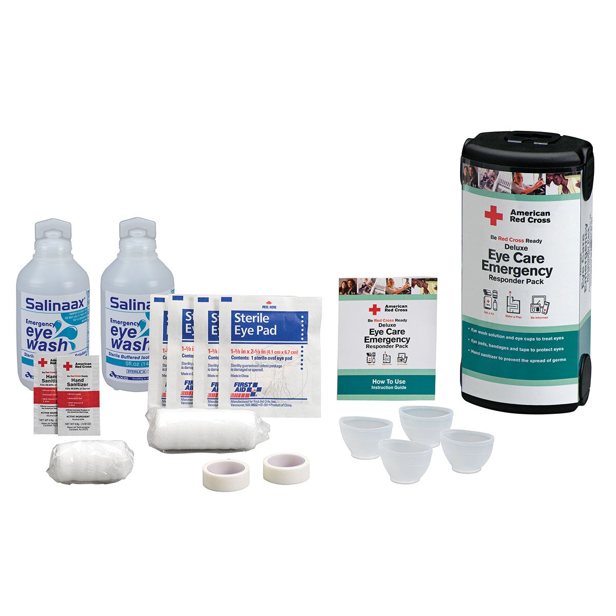 American Red Cross Deluxe Eye Care Emergency Responder Pack - BS-FAK-RC-684-1-FM
