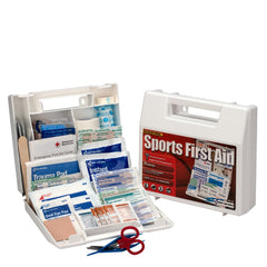 10 Person Sports First Aid Kit, Plastic Case - LIMITED TIME OFFER! - BS-FAK-SM-134-1-FM