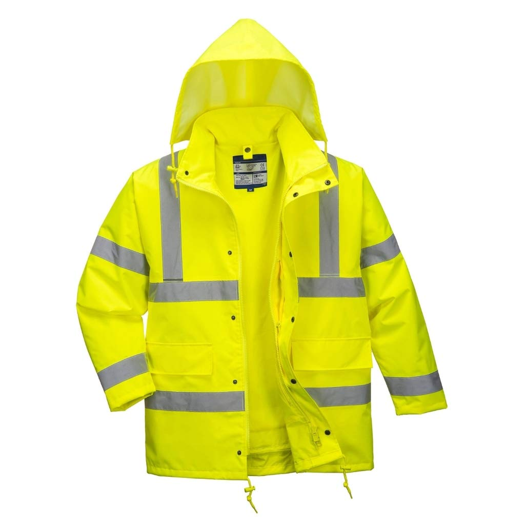 Brite Safety 4 in 1 Hi-Vis  Traffic Jacket - ANSI Class 3 Compliant High Visibility Waterproof Safety Jackets