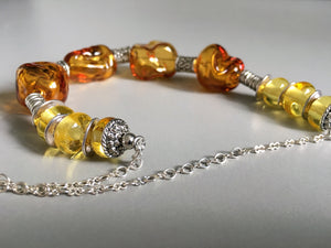 Artisanal glass work. One of a kind necklace