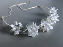 White beaded necklace from murano glass
