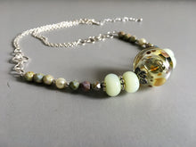 Gorgeous necklace from hand crafted glass beads