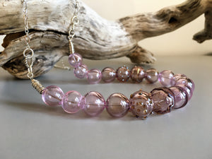 Shimmering pinks and purples necklace