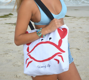 Red Crabby Bag Tote by Wave of Life
