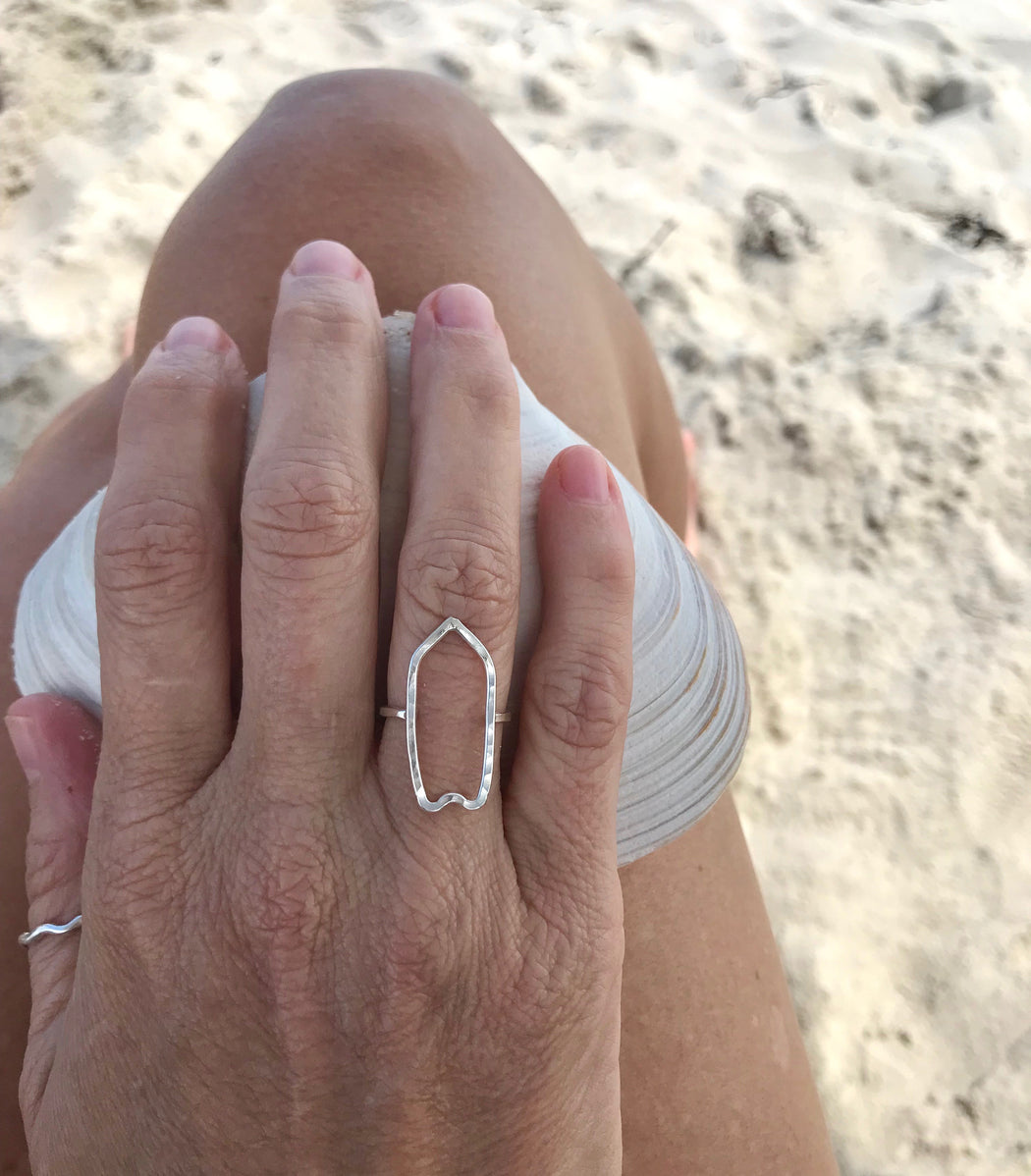 Surfboard Ring in Sterling Silver by Wave of Life