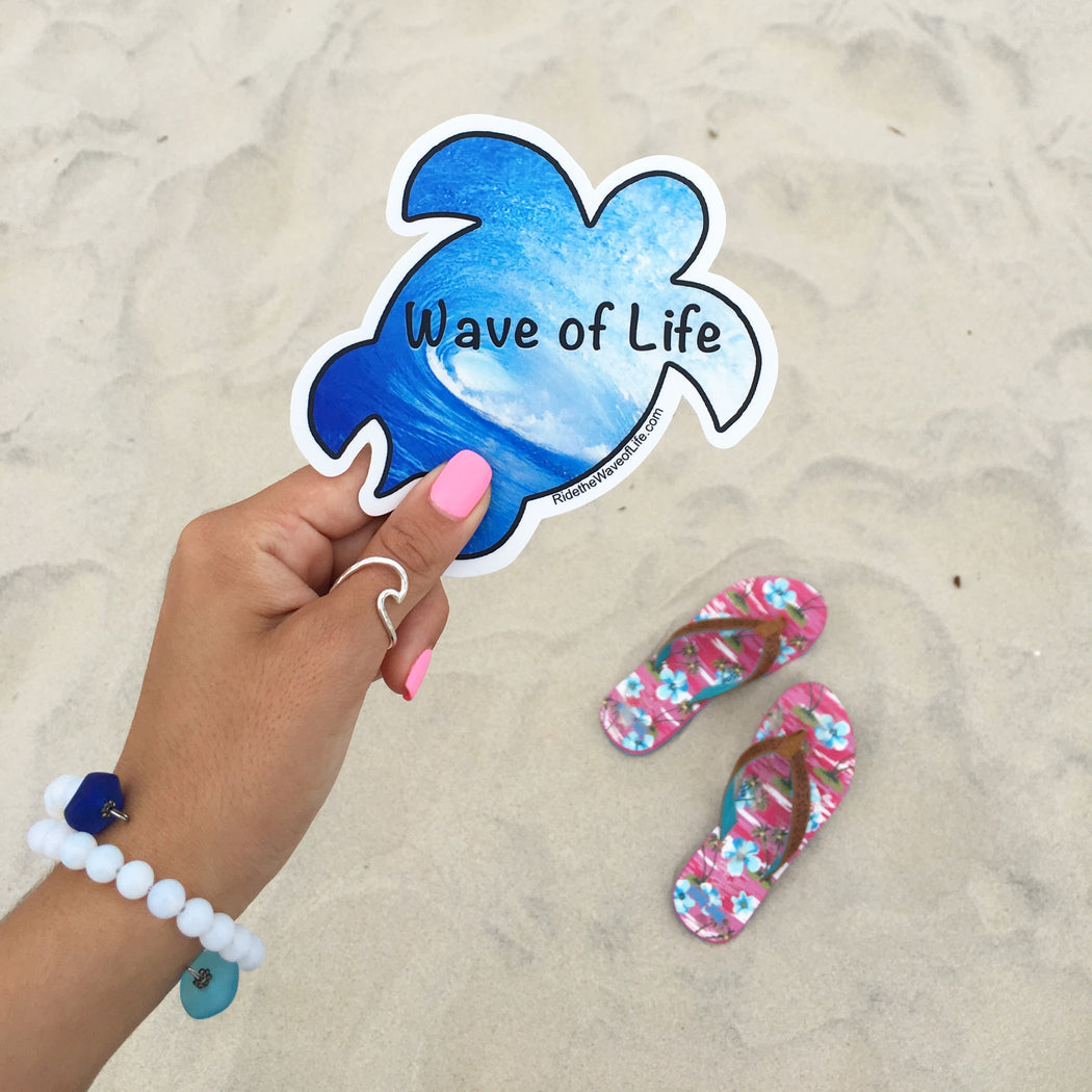 Wave of Life Honu Sea Turtle Sticker