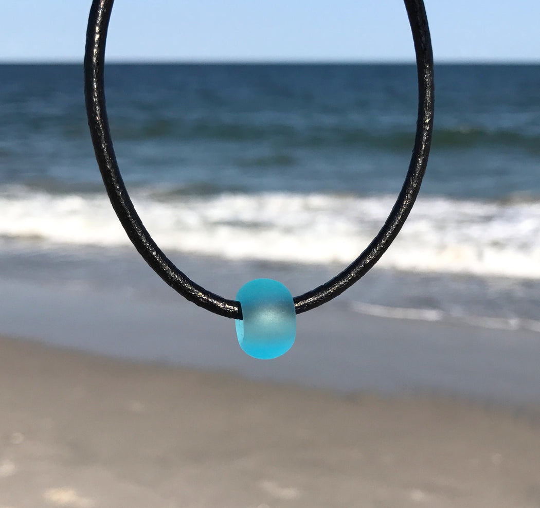 ADD ON ITEM Frosted Glass Sea Bead for Sea Bead Bracelet or Necklace  by Wave of Life