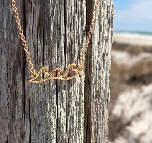 Wave Trio Necklace in Gold by Wave of Life