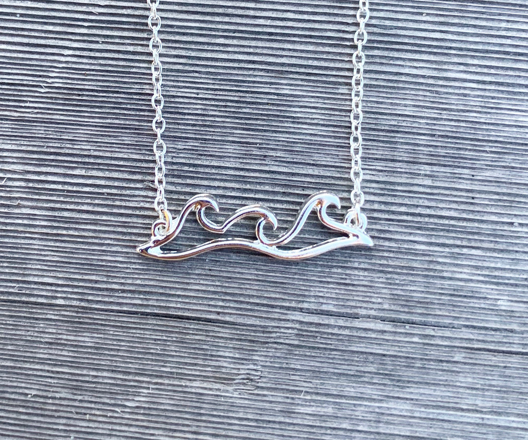 Wave Trio Necklace in Silver by Wave of Life