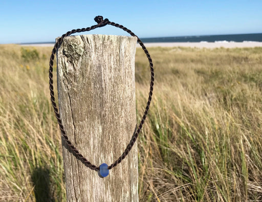 Frosted Glass Sea Bead Necklace  by Wave of Life