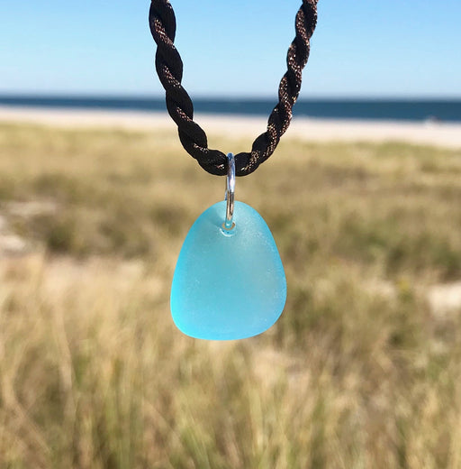 Caribbean Blue Sea Glass Nugget Necklace by Wave of Life