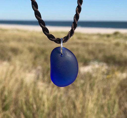 Cobalt Blue Sea Glass Nugget Necklace by Wave of Life