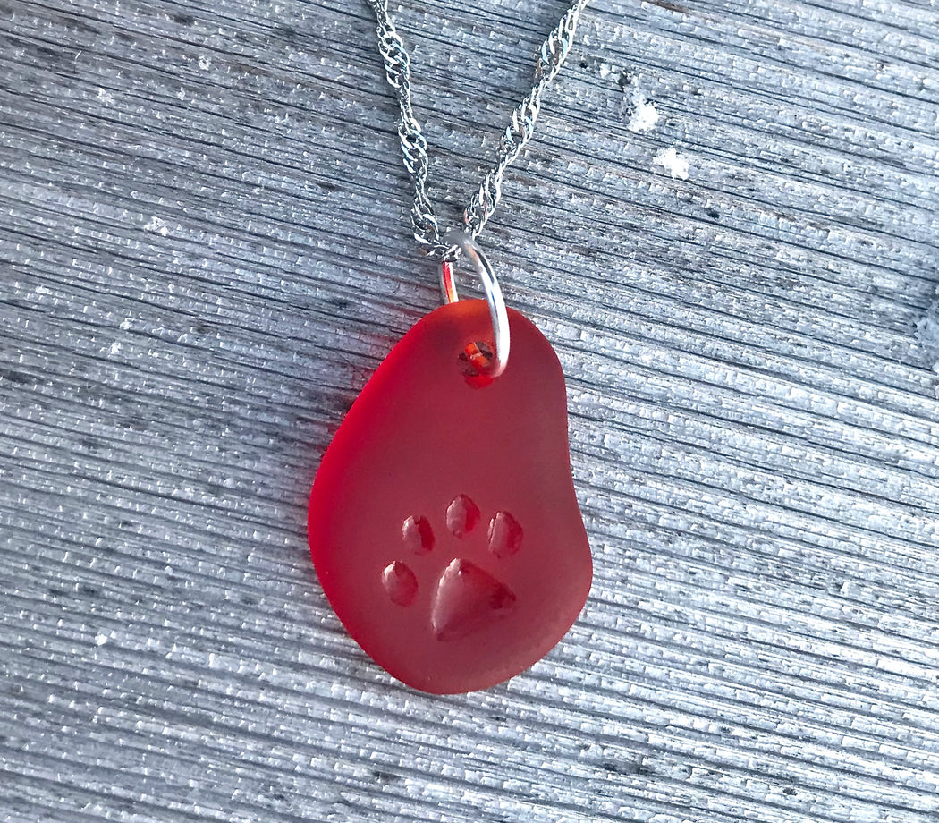Paw Print Necklace Carved by Wave of Life