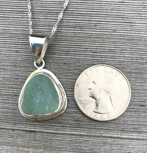 Pale Aqua Sea Glass Pendant Necklace by Wave of Life
