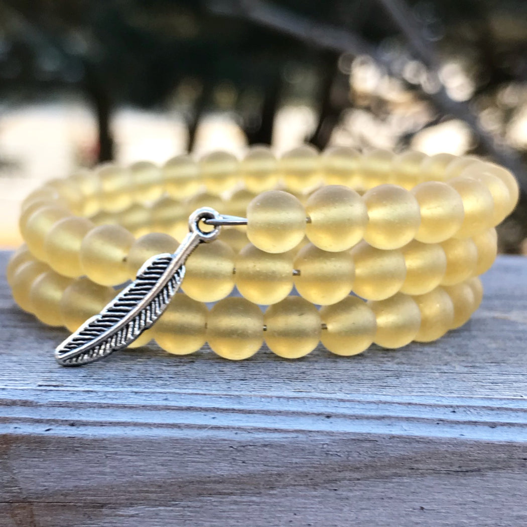 Stay Grounded Let Your Dreams Take Flight Bracelet by Wave of Life