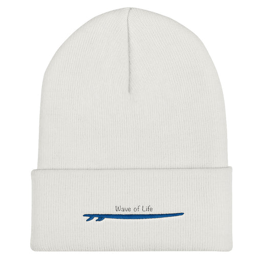 Surfboard Cuffed Beanie Hat by Wave of Life
