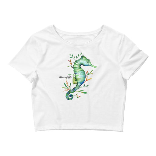 Wild and Free Seahorse Crop Top Tee Shirt by Wave of Life