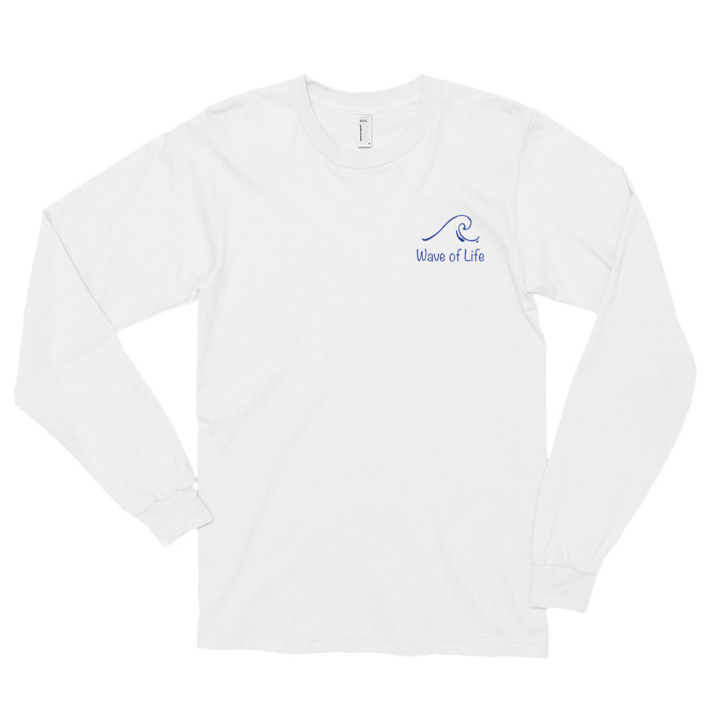 Wave of Life Logo in Blue Long sleeve t-shirt (unisex)