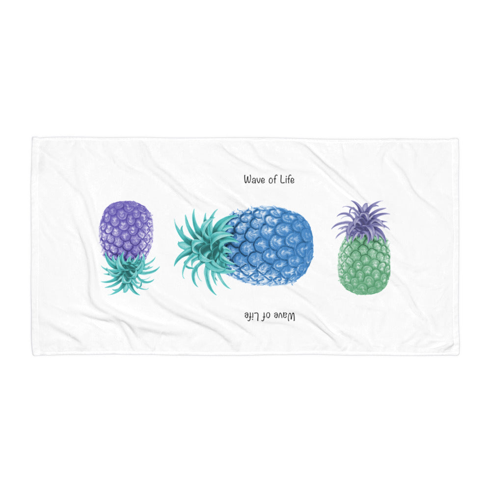Crazy Pineapple Beach Towel