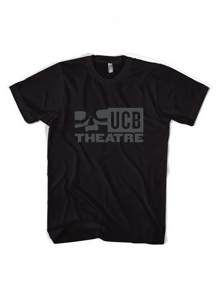 UCB Logo Tee - Black + Cool Grey Logo - NEW!