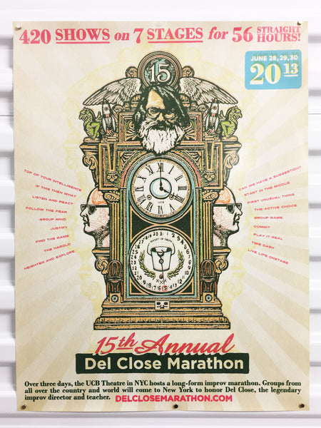 Del Close 15th Annual Marathon Poster