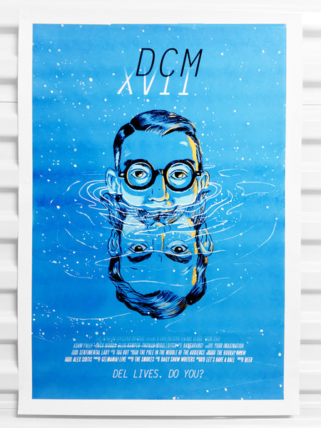 Del Close 2017 Marathon Poster - Blue