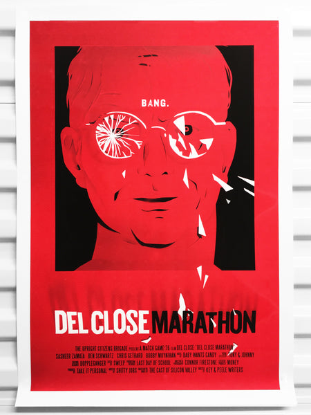 Del Close 2017 Marathon Poster - Red