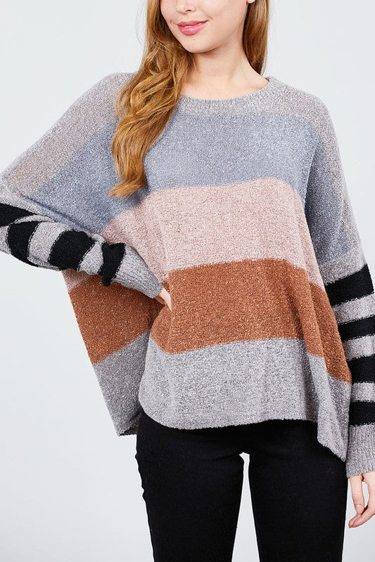 Haven Striped Sweater - shoptula