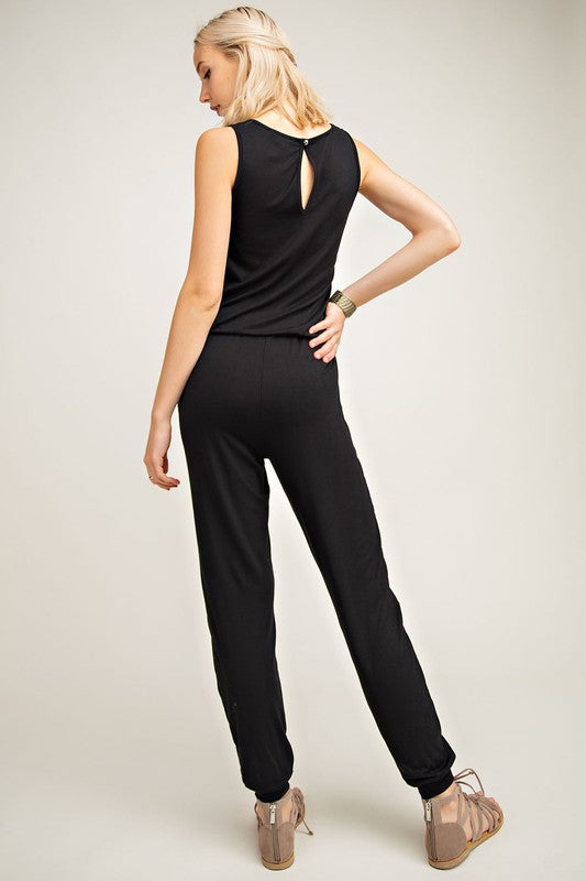 Logan Sleeveless Knit Jumpsuit (back-ordered) - shoptula